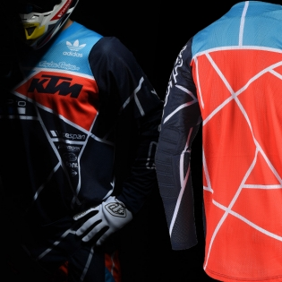 Troy Lee Designs SE Air Kit Combo - Metric Team Navy Orange Image 3