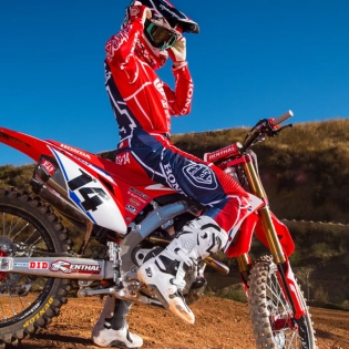 Troy Lee Designs SE Air Jersey - Metric Red Navy Image 2