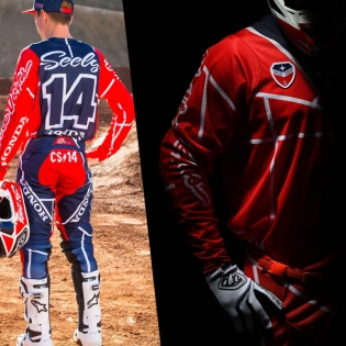 Troy Lee Designs SE Air Jersey - Metric Red Navy Image 3