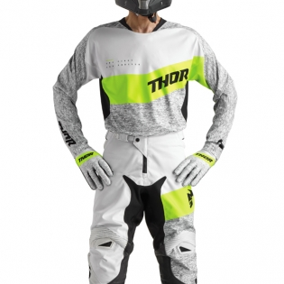 2018 Thor Fuse Jersey - High Tide Grey Lime Image 2
