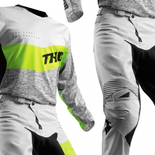 2018 Thor Fuse Jersey - High Tide Grey Lime Image 3