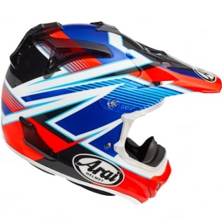 Arai MXV Motocross Helmet - Day Red Image 3