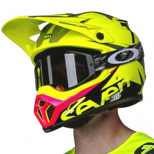 Bell MX9 MIPS Helmet - Seven Ignite Flo Yellow Black Image 2