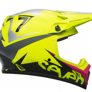 Bell MX9 MIPS Helmet - Seven Ignite Flo Yellow Black Image 3