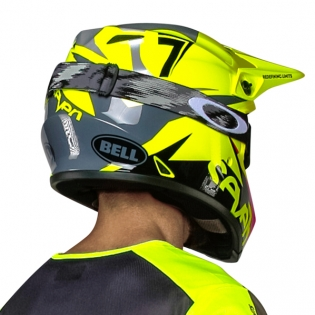 Bell MX9 MIPS Helmet - Seven Ignite Flo Yellow Black Image 4
