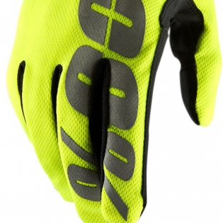 100% Hydromatic Gloves - Neon Yellow Image 2