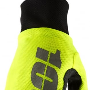 100% Hydromatic Gloves - Neon Yellow Image 4