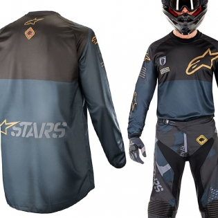 2018 Alpinestars Racer Jersey - Ltd Ed Aviator Navy Black Gold Image 2