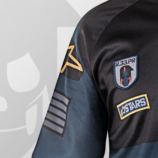 2018 Alpinestars Racer Jersey - Ltd Ed Aviator Navy Black Gold Image 3