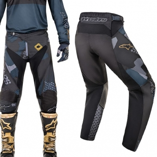 2018 Alpinestars Racer Pants - Ltd Ed Aviator Navy Black Gold Image 4