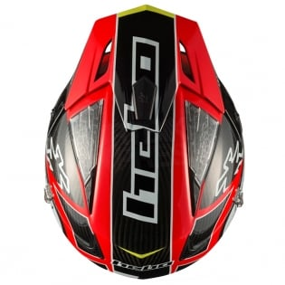 Hebo Zone 4 Carbon Trials Helmet - Red Image 3