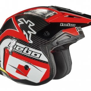 Hebo Zone 4 Carbon Trials Helmet - Red Image 4