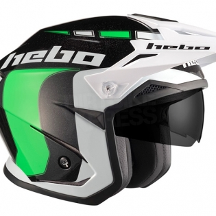 Hebo Zone 5 Polycarb Trials Helmet - Like Green Image 3