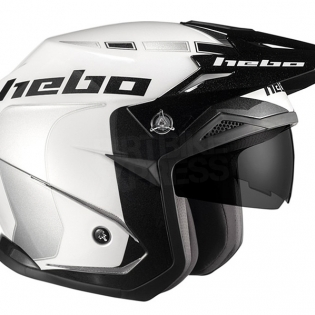 Hebo Zone 5 Polycarb Trials Helmet - Like White Image 3