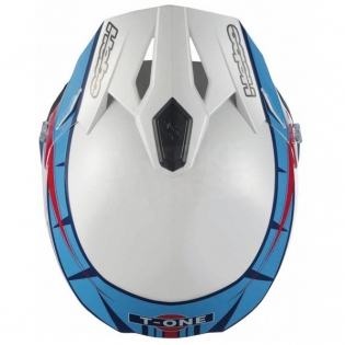 Hebo Zone 5 Polycarb Trials Helmet - T-One Blue White Image 2