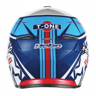 Hebo Zone 5 Polycarb Trials Helmet - T-One Blue White Image 4