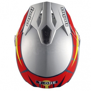 Hebo Zone 5 Polycarb Trials Helmet - T-One Grey Image 2