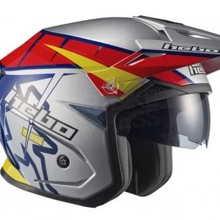 Hebo Zone 5 Polycarb Trials Helmet - T-One Grey Image 3