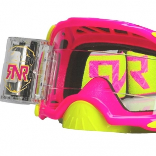 Rip n Roll Platinum WVS Roll Off Goggles - Neon Pink Image 2