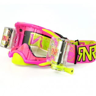 Rip n Roll Platinum WVS Roll Off Goggles - Neon Pink Image 3