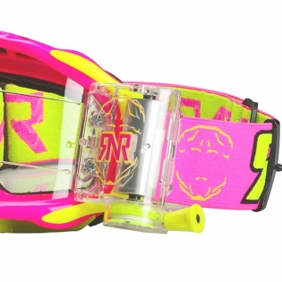 Rip n Roll Platinum WVS Roll Off Goggles - Neon Pink Image 4