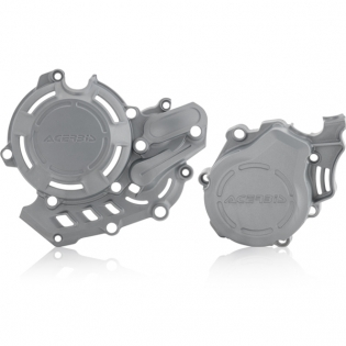 Acerbis X-Power Husqvarna Engine Cover Kit - Silver Image 3