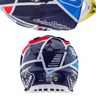 Troy Lee Designs SE4 Carbon Helmet - Metric Navy Image 3