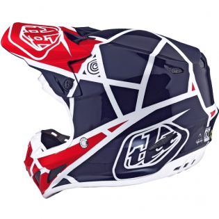 Troy Lee Designs SE4 Composite Helmet - Metric Red Navy Image 2