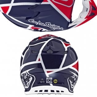 Troy Lee Designs SE4 Composite Helmet - Metric Red Navy Image 3