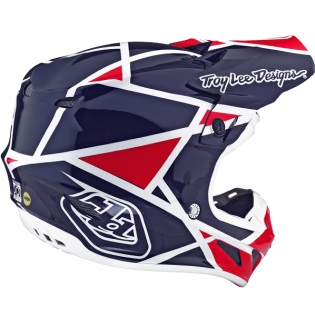 Troy Lee Designs SE4 Composite Helmet - Metric Red Navy Image 4