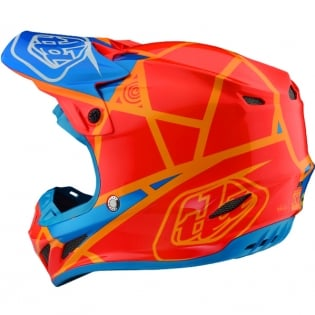 Troy Lee Designs SE4 Composite Helmet - Metric Honey Orange Image 2