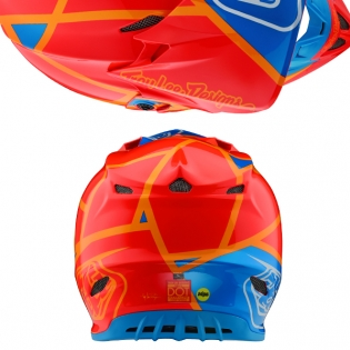 Troy Lee Designs SE4 Composite Helmet - Metric Honey Orange Image 3