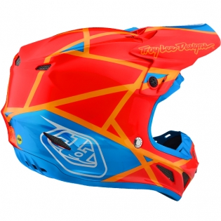 Troy Lee Designs SE4 Composite Helmet - Metric Honey Orange Image 4