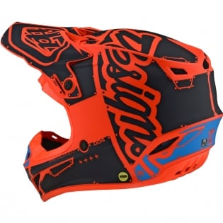 Troy Lee Designs SE4 Polyacrylite Helmet - Factory Matt Orange Image 2