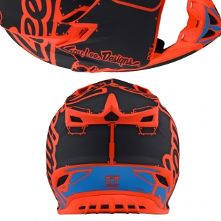 Troy Lee Designs SE4 Polyacrylite Helmet - Factory Matt Orange Image 3
