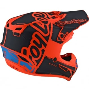 Troy Lee Designs SE4 Polyacrylite Helmet - Factory Matt Orange Image 4