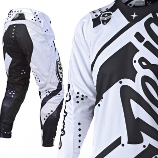Troy Lee Designs SE Kit Combo - Shadow White Black Image 2