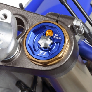 Zeta Front Fork Cap Blue - KYB MX (Twin Chamber) Image 2