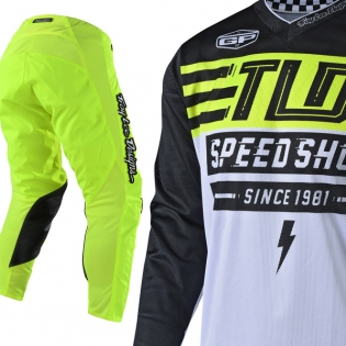 Troy Lee Designs GP Air Kit Combo - Bolt Flo Yellow Image 2