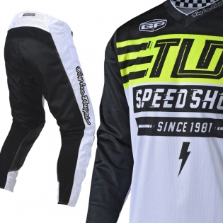 Troy Lee Designs GP Air Kit Combo - Bolt White Flo Yellow Image 2