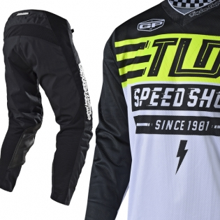 Troy Lee Designs GP Air Kit Combo - Bolt Black Flo Yellow Image 2