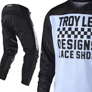 Troy Lee Designs GP Air Kit Combo - Raceshop Black Black White Image 2