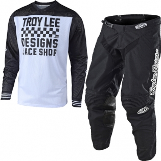 Troy Lee Designs GP Air Kit Combo - Raceshop Black Black White Image 3