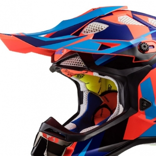 LS2 Subverter MX470 Helmet - Nimble Black Blue Orange Image 2