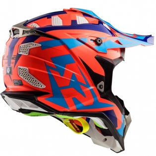 LS2 Subverter MX470 Helmet - Nimble Black Blue Orange Image 3