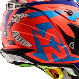 LS2 Subverter MX470 Helmet - Nimble Black Blue Orange Image 4