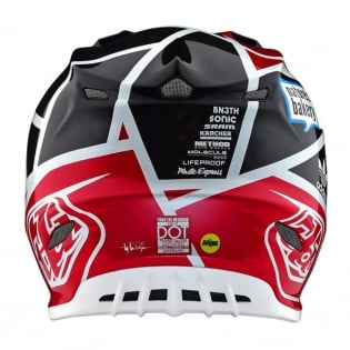 Troy Lee Designs SE4 Metric Carbon Helmet - Black Red Image 2