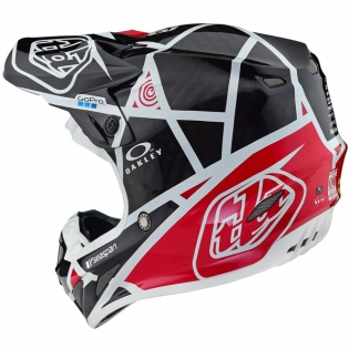 Troy Lee Designs SE4 Metric Carbon Helmet - Black Red Image 3