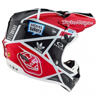 Troy Lee Designs SE4 Metric Carbon Helmet - Black Red Image 4