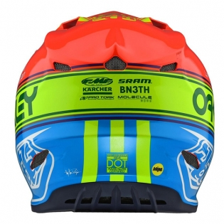 Troy Lee Designs SE4 Team Edition 2 Composite Helmet - Orange Blue Image 2